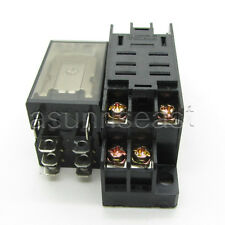 DC12V Coil Power Relay 10A DPDT LY2NJ HH62P HHC68A-2Z With Socket Base