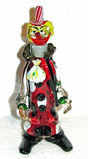 "VINTAGE LARGE MURANO SEGUSO ITALIAN ART GLASS HAND BLOWN 13"" CLOWN WINE DECANTER"