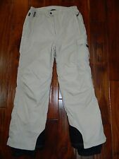 Obermeyer Boy Girl Junior Lt Khaki Cargo Ski Snowboarding Snow Pants sz 16
