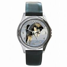 Husky Puppy Siberian Sled Dog Lover Leather Watch New!