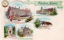 Station Hotel Ayr Advert Early pc used 1903 Ayr postmark Tuck