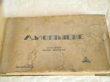 Vintage Catalogue A.Moriniere Industrial Chassis 1937 commercials Builder