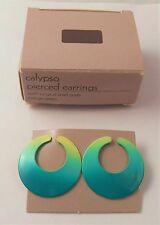 AVON CALYPSO PIERCED EARRINGS IN MANGO GREEN WITH SURGICAL STEEL POSTS NOS 1987