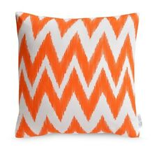 Orange Chevron OUTDOOR Cushion Cover WATERPROOF Geometric Zig Zag Patio Pillow