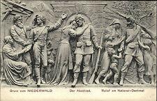 National-Denkmal NIEDERWALD bei Rüdesheim ~1900/10 Relief Verlag Suder in Mainz