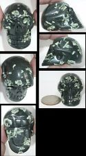 Chinese Writing Stone CRYSTAL SKULL - Acceptance, Well Being - S14849
