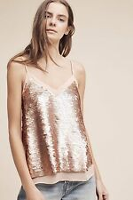 NWT Anthropologie Rose Gold Sequined Cami By Moulinette Soeurs size 4