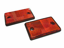 RED, 2 X Square, Rectangle Safety, Visibility, Reflector Kit: Car, Van, Trailer.