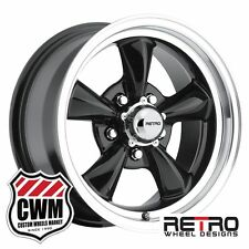 "New 15x7"" 15x8"" Ford Falcon Wheels Set Black Falcon Rims fit Falcon 66-70"