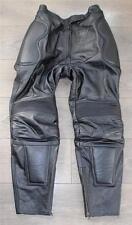 """Black Leather HEIN GERICKE Racing Sport Biker Jeans Pants Trousers Size W31"""" L28"""