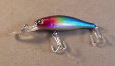 Bass Fishing Lure DR 2 1/2 in. Diving Rattling Minnow Weight Transfer Jerkbait
