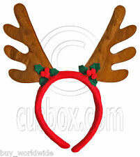 Brown Horn Christmas Deer Reindeer Antlers Headband Head Costume Party Halloween