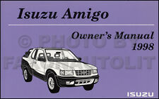 NEW 1998 Isuzu Amigo Owners Manual with Extras Original OEM Owner Guide Book