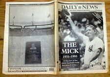 BEST 1995 New York Daily News newspaper MICKEY MANTLE DEAD  Yankee baseball star