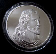 Religious Jesus Christ / The Last Supper / Silver Plated Medal / Case 40 mm M95