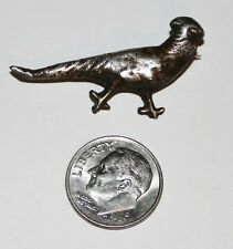 Vintage Sterling Silver Pheasant Brooch / Pin ~ 3.7 grams ~ Mexico