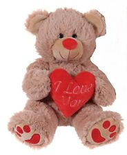 "BRAND NEW 10"" BROWN VALENTINES I LOVE YOU HEART TEDDY BEAR PLUSH SOFT TOY"
