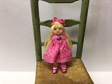 Miniature Tiny Dolls, Doll, Hot Pink Dress, OOAK, B Justice