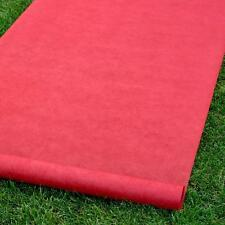 "Red Carpet Blank Durable Rayon Wedding Aisle Runner 36""x100'"