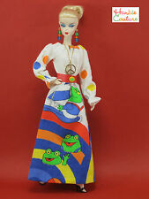 1960'S HIPPIE DOLL DRESS FITS BARBIE by HANKIE COUTURE FASHION CLOTHES PEACE!!