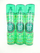 Bath Body Works 3 Vanilla Bean Noel Fragrance Mist 8oz Body Splash Spray 2016