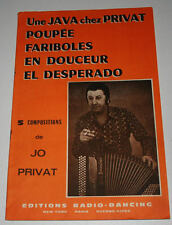 Partition sheet music JO PRIVAT : Une Java + 4 titres * 60's Accordéon