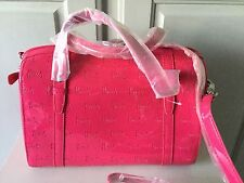 HARRODS DARK PINK DEBOSSED PVC BARREL/SHOULDER BAG NEW