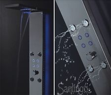 LED Stainless Steel Shower Panel Mirror Waterfall Massage Jets from Sanlingo