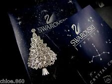 SIGNED SWAROVSKI CRYSTAL 2000 CHRISTMAS TREE  PIN~BROOCH RETIRED NEW IN BOX