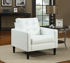 Acme Furniture Balin Accent Chair In White Polyurethane Finish 59048 New