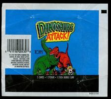 Dinosaurs Attack, Topps, Trading Cards Wrapper #W14