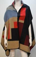 FEVERFISH ABSTRACT COLOUR BLOCK PONCHO BLANKET CAPE MULTI ONESIZE 14 16 18 20