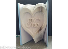 Nan Inverted Heart, CUT AND FOLD/COMBINATION Book Folding PATTERN 459 Pages #451