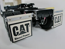 Tamiya 1/14 Semi Tractor Pair Rear Aluminum Hanger Mount w/ CAT DIESEL Mud Flap