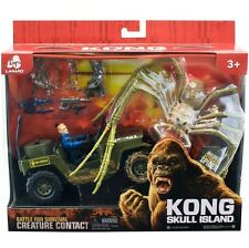 NEW King Kong Skull Island Spider with Jeep & Action Figure Tom Hiddleston Toy