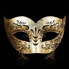 Gold Leather Venetian Mardi Gras Masquerade Mask for Men M33160