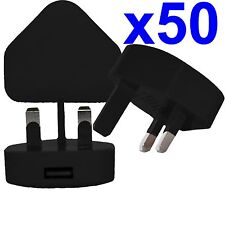 50 X 100% CE Usb Uk Enchufe de Pared de CA Cargador Adaptador para iPhone iPod Samsung HTC