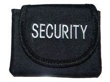 Embroidered SECURITY Pouch (BLACK) for SIA, GUARD, PATROL, BOUNCER, DOOR STAFF