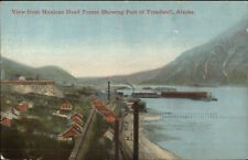 View from Mexican Head Frame Showing Treadwell AK c1910 Postcard rpx