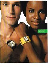 PUBLICITE  2004   UNITED COLORS OF BENNETTON    collection montres