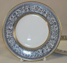 Wedgwood FLORENTINE BLACK 2 Bread & Butter Plates W4312 GREAT CONDITON