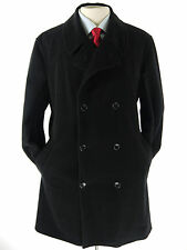 Armani VESTIMENTA SAKS FIFTH AVENUE Double Breasted Peacoat Cashmer Wool 40