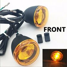 Front Turn Signal Light Indicator For 1992-2016 Harley Sportster XL 883 1200 Yel
