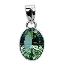 GREEN PURPLE COLOR CHANGE ALEXANDRITE & .925 STERLING SILVER PENDANT GIFT AE65
