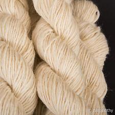 *225g*BRITISH ARAN 100% WOOL*Natural Sheep Cream.White.yarn.knitting.pure.chunky