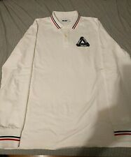 Palace Skateboards Tri Ferg Polo Long Sleeve White size Large