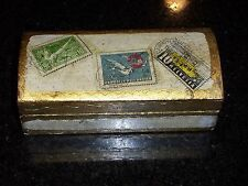Vintage Decorative Wooden Trinket Box - Made in Italy - Estate Sale Find!
