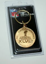 Super Bowl 48 Logo NFL Football Brass Key Chain 2014 Seattle NJ / NY New Sealed