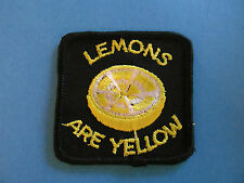Vintage 70's Biker Vest Trucker Hat Hippie Jacket Patch Lemons Are Yellow