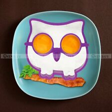 Silicone Funny Side Up Owl Egg Fried Frying Mould Breakfast Pancake Mold Ring